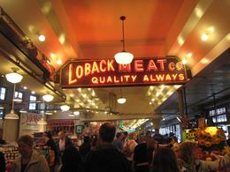 Pike Place Market: Shot walking along the inside of the market, Skootre - October 2010