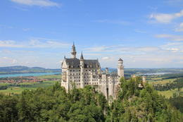 View of Neuschwanstein from Marienbrucke. , Mui - June 2011