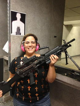 Photo of Las Vegas Viator Exclusive: Las Vegas Gun Store and Firing Range Package say hello to my little friend!