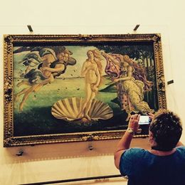 The Birth of Venus by Sandro Botticelli inside the Uffizi Gallery in Florence. , Eva L - August 2015