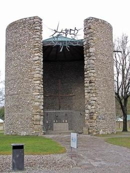 One of many memorials erected at Dachau., Ron - December 2009
