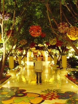 Inside the beautiful lobby of the Wynn, Las Vegas , Leah - May 2011