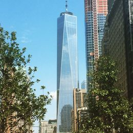 View of the new 1 World Trade Center as you approach it on the tour from Battery Park , Joe S - September 2015