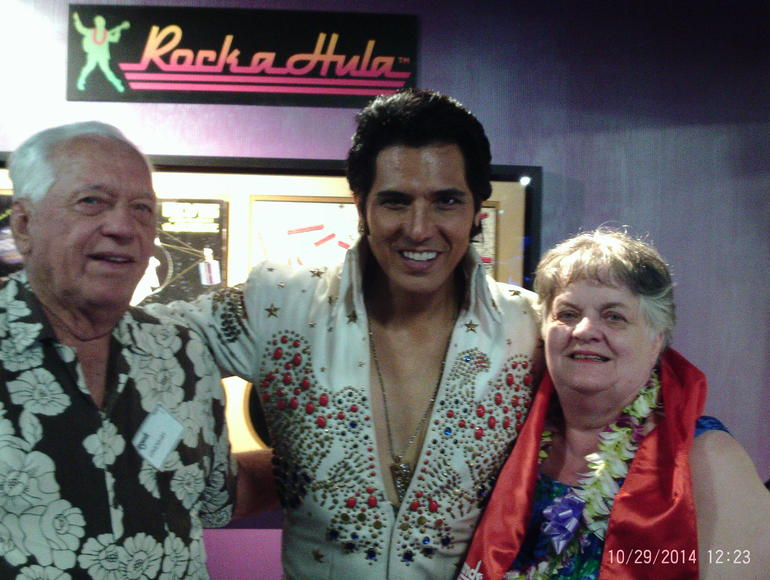 my husband BJ, Elvis and me Betty.