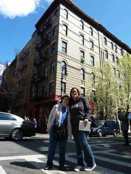 In front of the Friends' building , Lourdes P - April 2012