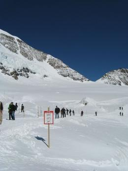 """At the """"Adventure"""" area at Jungfraujoch, where there were sledding/ skiing / zipline rides. - September 2009"""