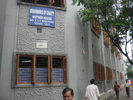 The outside of Mother Teresa's Motherhouse - July 2012