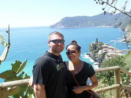 Photo of Florence Cinque Terre Hiking Day Trip from Florence My Fiance and I at the completion of the HIKE! :)