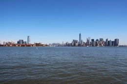 Manhatten von Liberty Island , ulf - April 2015