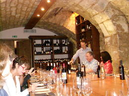 Sommelier pouring the wine at the start , Siobhan A - September 2011