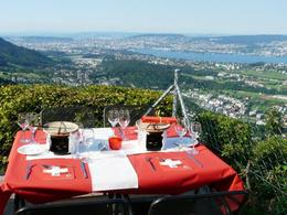Photo of Zurich Zurich City Highlights with Felsenegg Cable Car Ride Restaurant at viewpoint Felsenegg.jpg