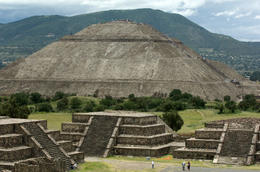 Pyramid of the sun at Teotihuacan. Ancient ruins from 100 BC just outside Mexico City. - June 2011