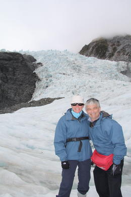 G and G posing on the glacier , GracieJ - May 2011