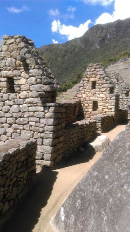In some areas you can walk into the buildings of Machu Picchu but those who oversee this site are slowly roping off more and more areas since the site is deteriorating from the thousands of tourists ... , Heather H - May 2016