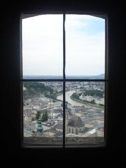 This picture was taken behind the window of the Hohensalzburg Fortress, Lourdes H - July 2009