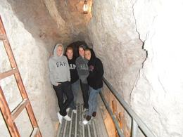 In the mine Alex, Sam, Casey and Megas , Samantha F - January 2012