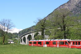 Photo of Milan Swiss Alps Bernina Express Rail Tour from Milan Bernina express train