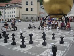 A big chess playing by citizens, Lourdes H - July 2009