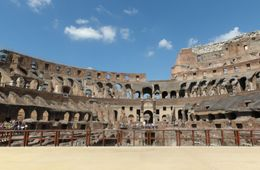 Stage in the Colosseum , sophie p - August 2015
