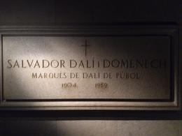 Salvador Dalí tomb, Rosane - August 2013