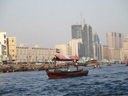 boat trip on Dubai Creek , Nicholas W - May 2015