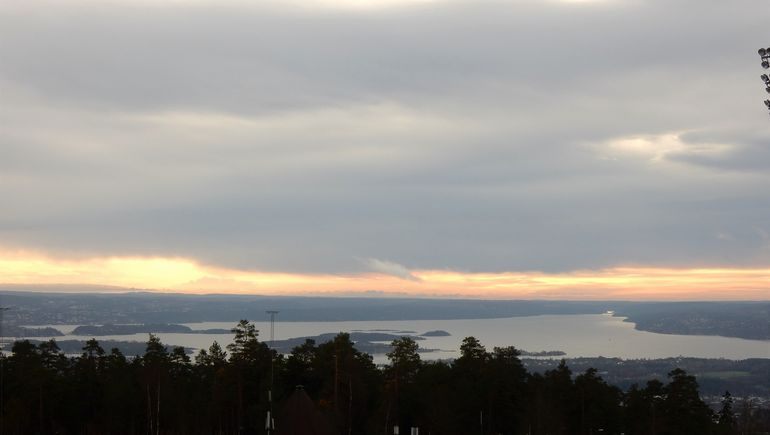 As above - from the ski jump in the hills behind Oslo - unable to go to top of jump due to time restrictions.