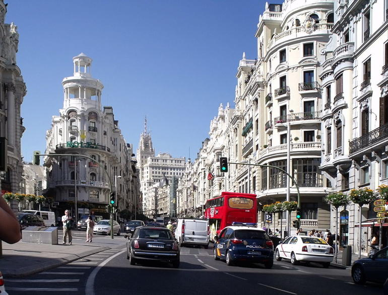 Along the Grand Via, Madrid