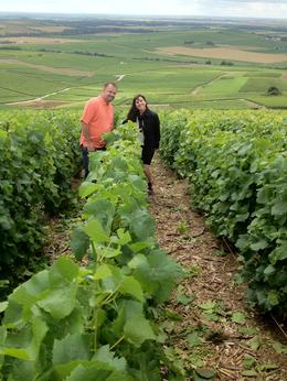My husband and I in the vineyards. , Lynee - July 2012