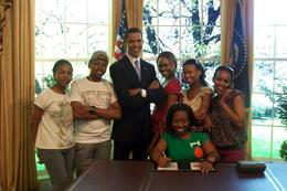 We got to hang out with (wax) President Obama! - July 2009