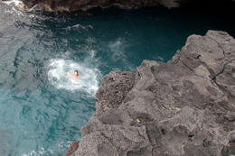 Photo of Big Island of Hawaii Big Island Keauhou Bay Kayaking and Optional Snorkeling Cave Tour In the water