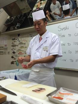 Our sushi chef/instructor walked us through everything (with the help of a great translator). , Andrew W - October 2014