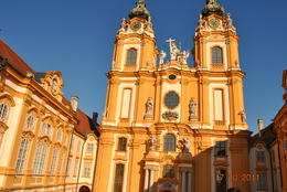 Melk Abbey is an Austrian Benedictine abbey, and is one of the world's most famous monastic sites. The library is impressive with countless medieval manuscripts. , Stephanie G - October 2011