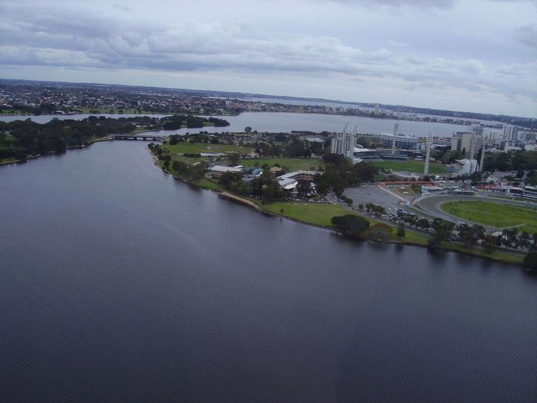 Perth Helicopter Tour - View from east Perth - Perth