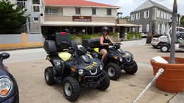 Just parked our ATV's at the restaurant where our lunch was provided as part of the trip. PS - I'm 56 and this is the first time I have ridden on an ATV and they were a blast. Believe me - nothing ... , Leonard S - July 2015