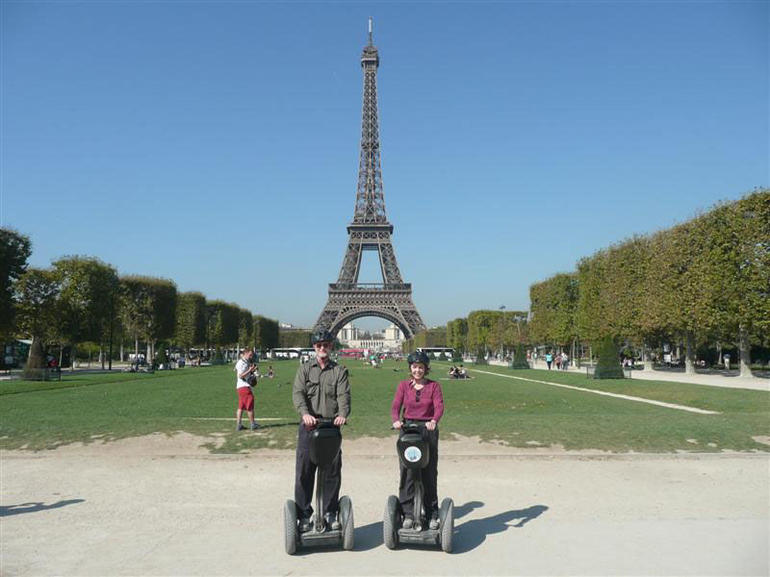 Riding the Segway in front of the Eiffel Tower - Paris