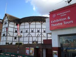 The outside of the Globe Theatre from the Thames, Nick - March 2012