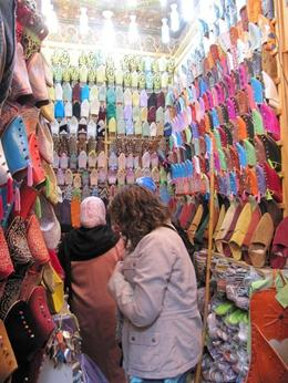 Shopping at a souk - February 2010