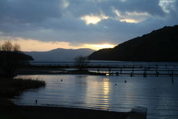 Photo of   sun set over loch lomond
