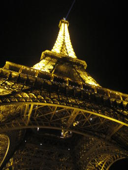 View of the Eiffel Tower , aw - December 2011