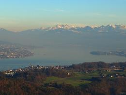 Fantastic views over Lake Zurich, isa - February 2014