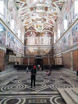 Sistine Chapel - private time , DAVID P - October 2012