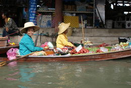 Photo of Bangkok Floating Markets and Bridge on River Kwai Tour from Bangkok Floating Market Vendor