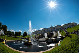General view of the main fountain terrace below the palace. , Mark B - July 2014
