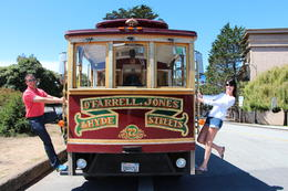 Photo of San Francisco Viator VIP: Early Access to Alcatraz and Exclusive Cable Car Sightseeing Tour Fun on a Trolley Bus at the Palace of Fine Arts