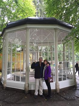 My husband and I outside the famous Gazebo. , BEVERLEY - September 2015
