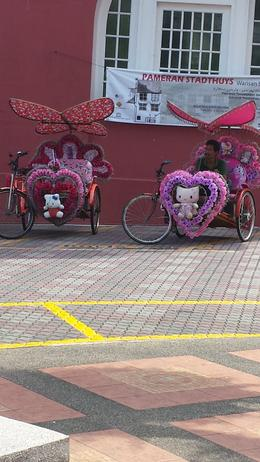 Hello Kitty bikes that you can rent (be driven around in) , Iz F - November 2014