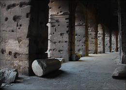 Taken inside the Colosseum. One cannot help but wonder what these walls would tell you if they could reveal what happened there many years ago . . . , Annelise - January 2011