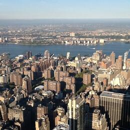 Taken from the top of the Empire State Building , Vicky - October 2014