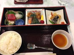 Great lunch - pic misses out the yummy miso soup ( and ice cream for pud!). , Ian P - November 2013