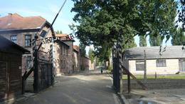Photo of Krakow Auschwitz-Birkenau Museum Half-Day Trip from Krakow Main entrance to Auschwitz I